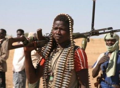 Rebel fighter in Darfur photographed on 9 December, 2007.