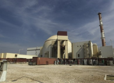 The reactor building of Iran's Bushehr nuclear power plant.