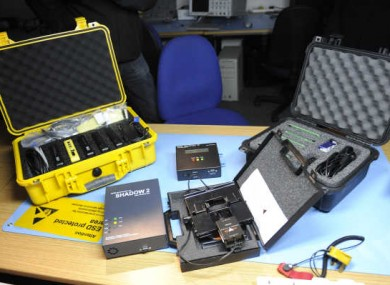 Some of the instruments for fighting cybercrime on display at the UCD Cybercrime Unit, where project 2Centre will be based