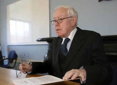 Judge Peter Smithwick at the opening day of the tribunal in March 2006.