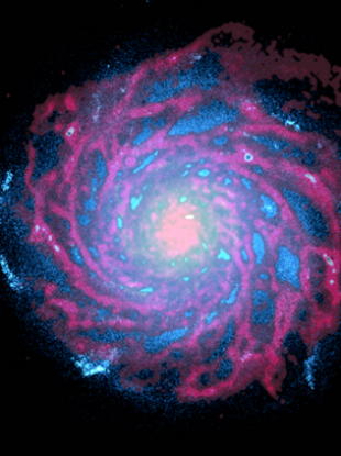 This is the simulated galaxy created by the international model - which bears remarkable similarities to the Milky Way.