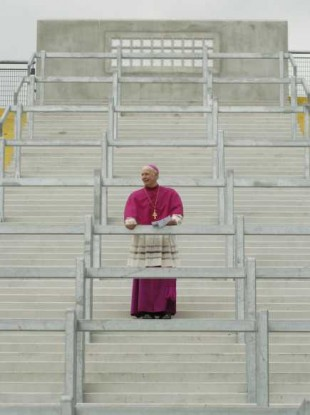File photo of Archbishop Dermot Clifford at the blessing of Croke Park's Hill 16 in 2005.