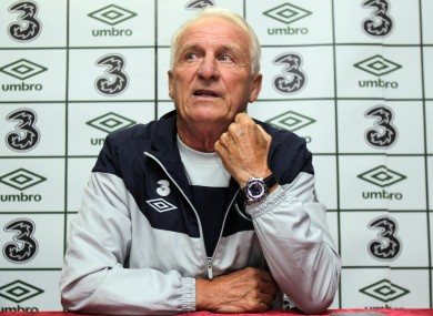 Trapattoni will be hoping for at least four points from his side's next two matches.