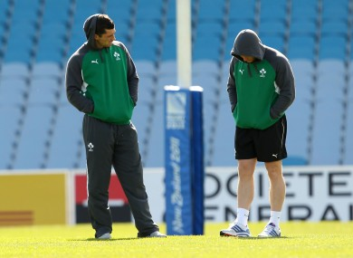Rob Kearney and Keith Earls sat out this morning's training session in Dunedin.