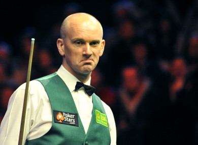 Ebdon: not a great singer as it turns out.
