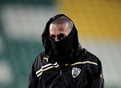 PAOK Salonika player Bruno Cirillo in Tallaght last night.
