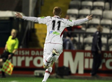 Goal-den boy: Doyle scored 20 league goals for Sligo last season.