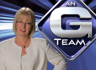 Do not adjust your set... Mary Hanafin in her new role on the G-Team