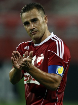 World Cup winner winner Cannavaro playing for Al Ahli in Dubai.