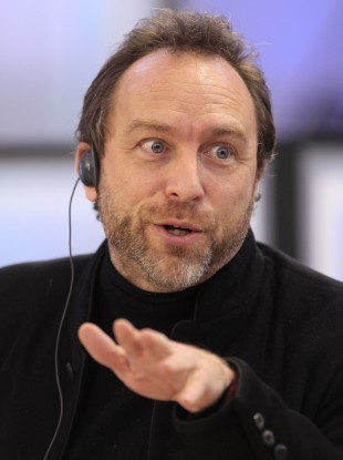 Wikipedia co-founder Jimmy Wales speaks during a meeting of the commission on economic modernization and technological development of the Russian economy, at the Skolkovo innovation centre outside Moscow.