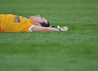 Flat out: Antrim's Brian Neeson during yesterday's McKenna Cup defeat against Tyrone.