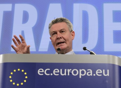 EU trade commissioner Karel De Gucht says referring ACTA to the European Court of Justice will
