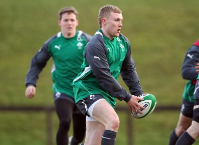 Earls during the Ireland training camp last week.