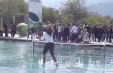 WATCH: Serena Williams busts a move after playing exhibition match on water
