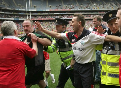 Ugly scenes at Croke Park in July 2010.