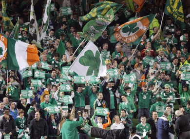 Irish fans have oversubscribed to the ticketing process.