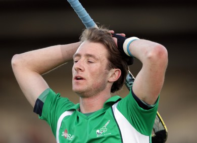 Ireland's Andy McConnell shows his disappointment at the end of the game.