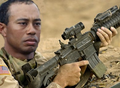 Tiger Woods: wanted to be a Navy SEAL.
