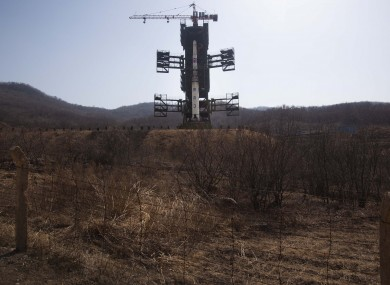 The site of the proposed rocket launch in North Korea