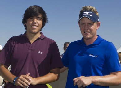 Javier Ballesteros with Luke Donald at a Pro-Am in Spain last ye