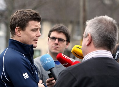Brian O'Driscoll meets his match this week: our man Sean, (centre, confused).