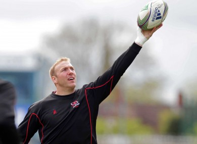 Stephen Ferris during squad training at Ravenhill this week.