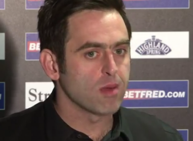 O'Sullivan is currently on course to win his fourth World Championship.