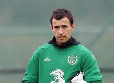 Fahey in the Ireland camp this week.