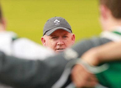 Head Coach Declan Kidney during training today.