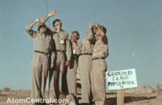 Video: Six men stand under atomic test… and walk away unharmed