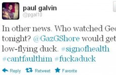 Tweet Sweeper: Paul Galvin is worried for low-flying ducks