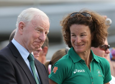 Pat Hickey and Sonia O'Sullivan.