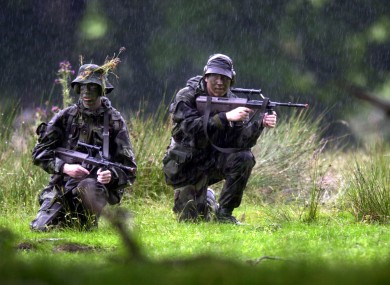 Reserve Defence Forces in training (File photo)