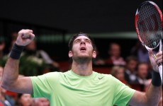 Del Potro holds nerve in tense tie-break to beat Federer and win Swiss Indoors