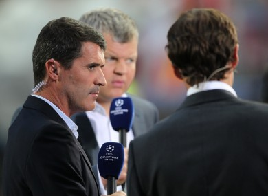Manchester United captain Roy Keane speaks to Adrian Chiles and Gareth Southgate. File picture.