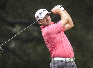 Graeme McDowell tees off on the sixth hole during the final round of the World Challenge golf tournament.