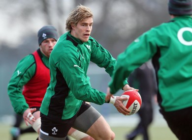 Andrew Trimble looked lively in training today.