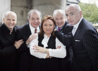 Niall O'Farrell (far right) at the launch of Dragons Den in 2010 (file photo).