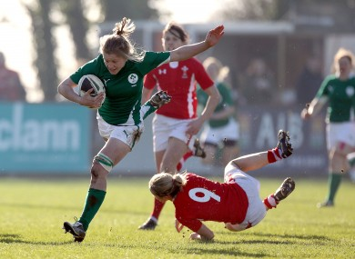 Ireland Sevens captain Claire Molloy in full flow.