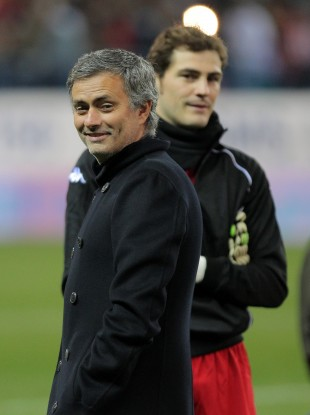 Mourinho and (background) Casillas.