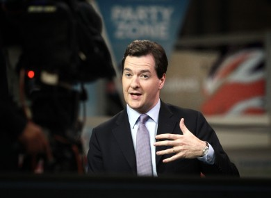 British Chancellor George Osbourne (file photo)