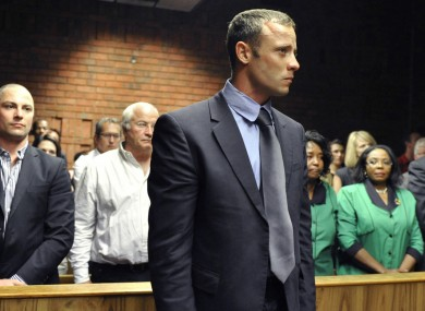 Oscar Pistorius in court today.
