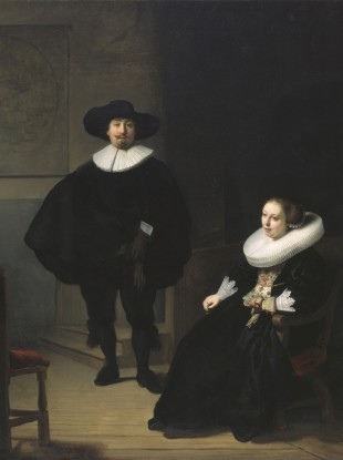 Rembrandt's 'A Lady and Gentleman in Black' - one of the paintings stolen in the heist