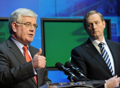 Tanaiste and Labour Leader Eamon Gilmore and Taoiseach Enda Kenny