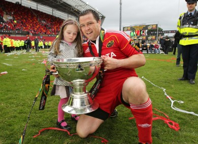 Marcus Horan with his daughter, Heather in 2011.