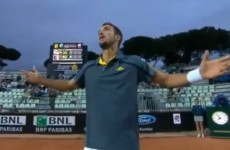 Tennis player's epic rant includes hijacking a TV camera and threatening to retire
