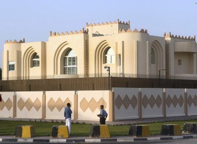 A general view of Taliban office in Doha before the official opening in Doha, Qatar