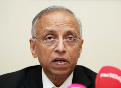 Professor Sabaratnam Arulkumaran of the University of London, who headed up the HSE review of the death of Savita Halappanavar.