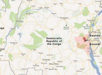 South Kivu province is highlighted in pink on this map.