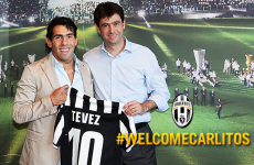 Tevez handed Del Piero's number 10 at Juventus